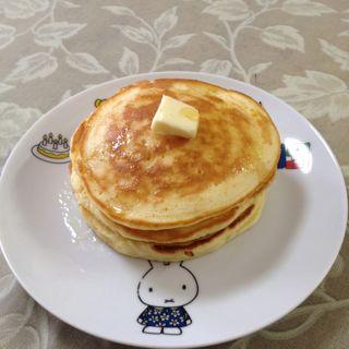 久しぶりにホットケーキ作りました(^^)