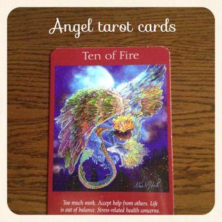 火の10・日常生活に価値を見いだしましょう・エンジェルタロットカード