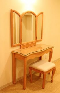 鏡を置く位置も大切です。