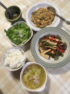 大豆や小麦粉が入った調味料を使わない・青椒肉絲と麻婆茄子