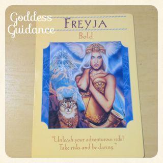 大胆さ・フレイヤ・女神のガイダンスオラクルカード